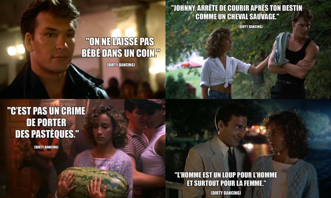 Phrase Culte dans Dirty Dancing