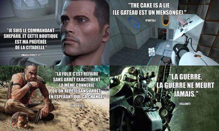 Phrase Culte dans les Jeux Video