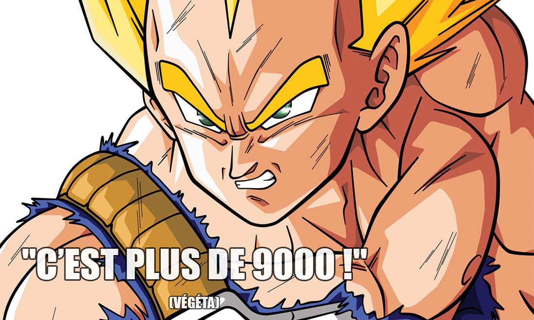 dragon ball z vegeta c est plus de 9000