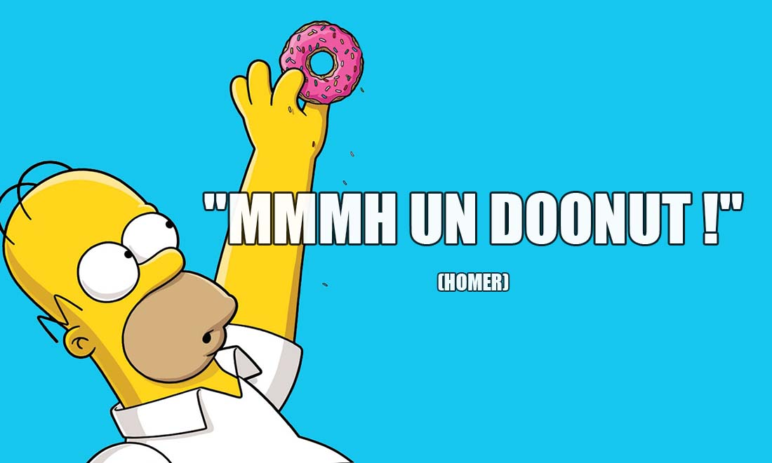 homer simpson mmmh un doonut