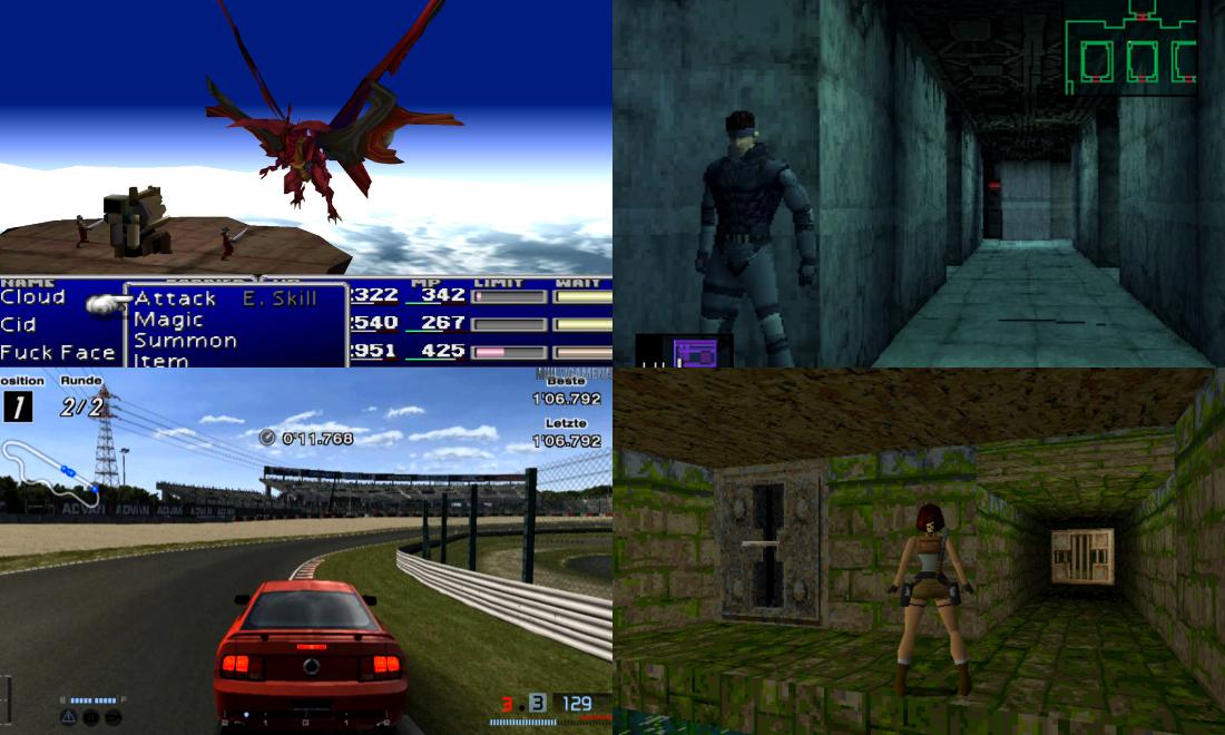 Jeux Cultes sur Consoles Playstation Sony