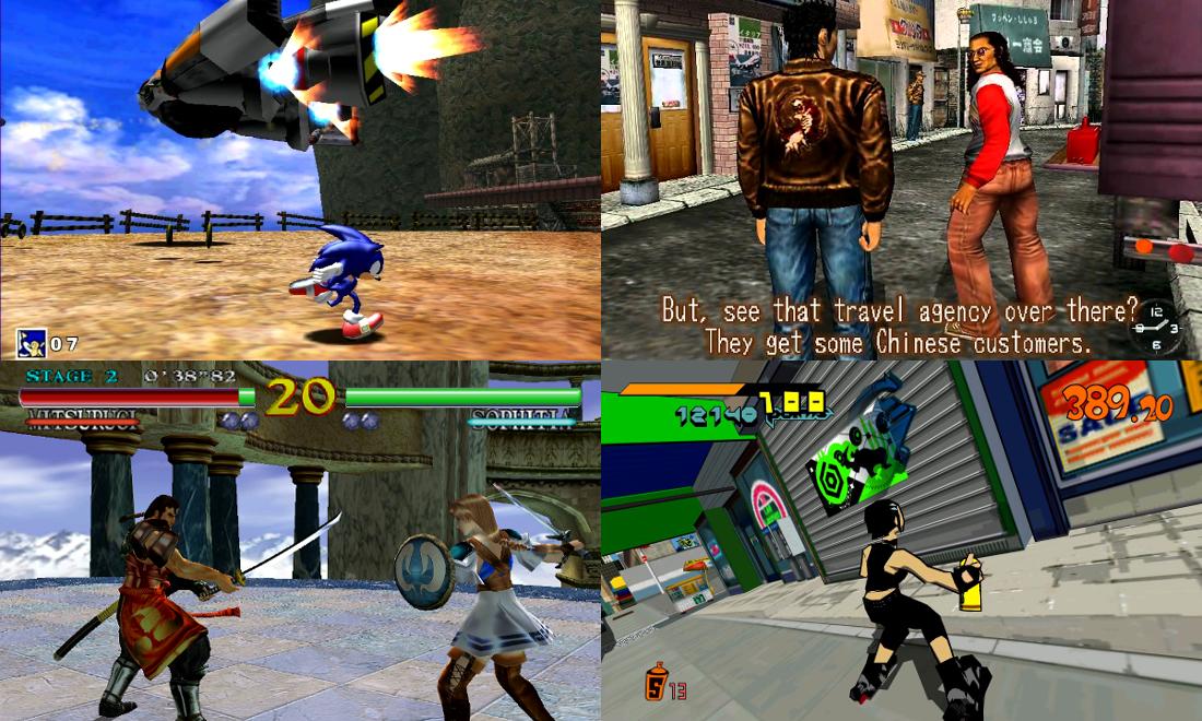 Jeux Cultes sur Dreamcast Sega