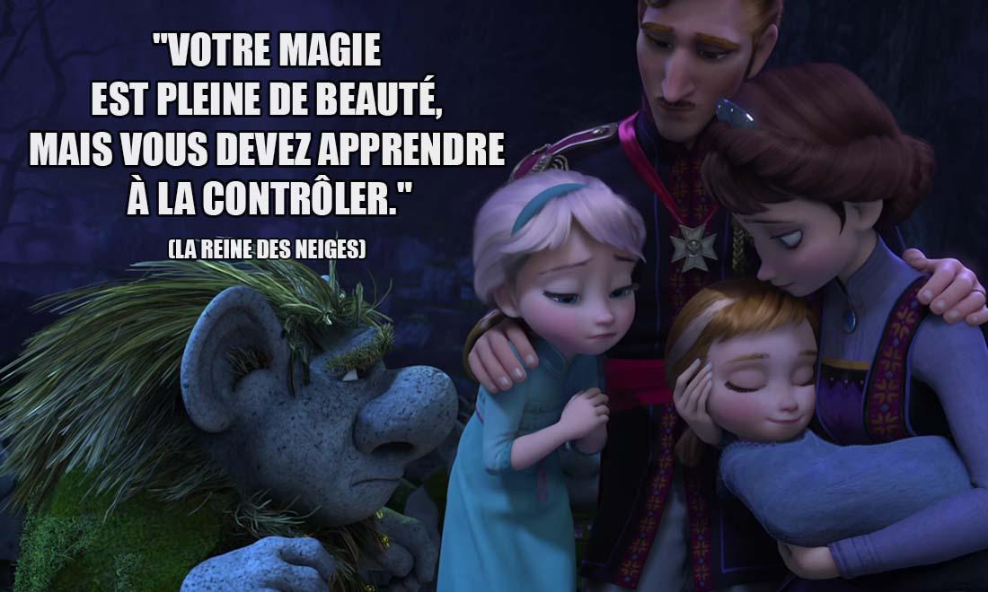 la reine des neiges grand pabbie votre magie est pleine de beaute mais vous devez apprendre a la controler