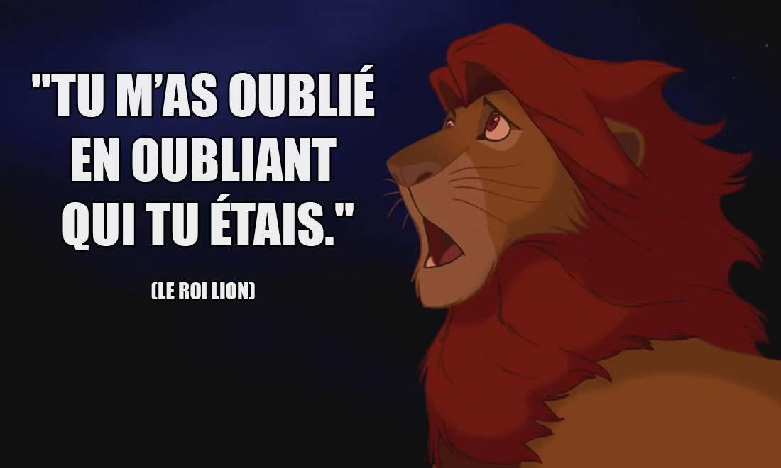le roi lion mafussa tu m as oublie en oubliant qui tu etais