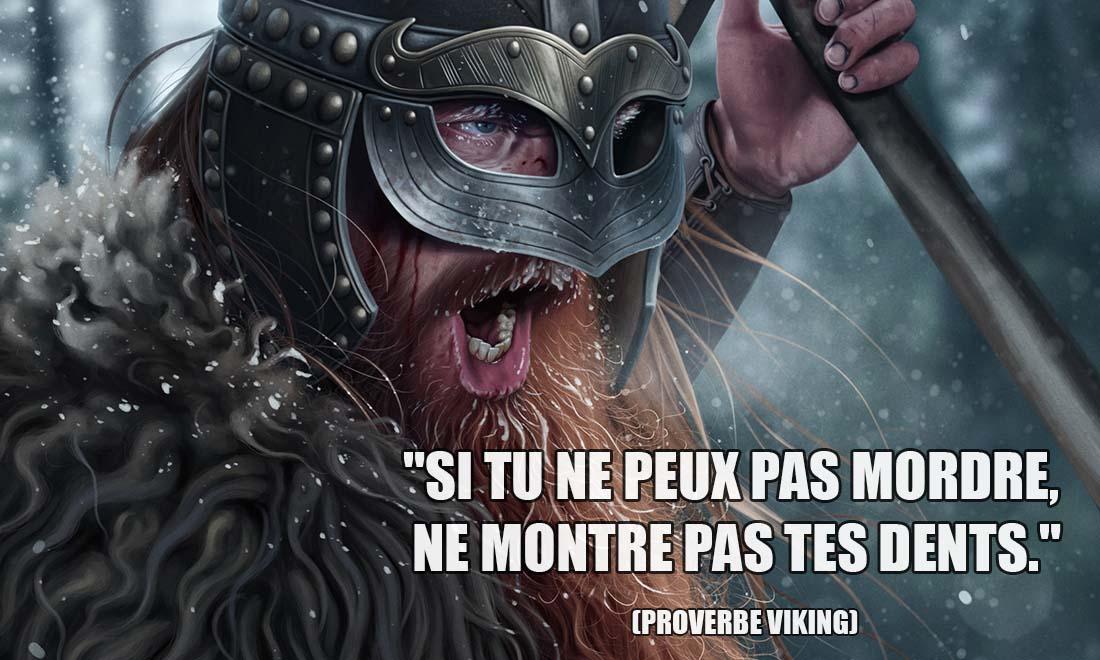 proverbe viking si tu ne peux pas mordre ne montre pas tes dents