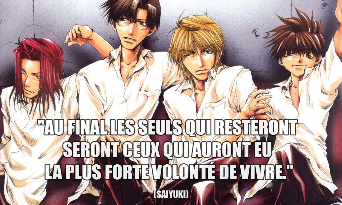 saiyuki au final les seuls qui resteront seront ceux qui auront eu la plus forte volonte de vivre
