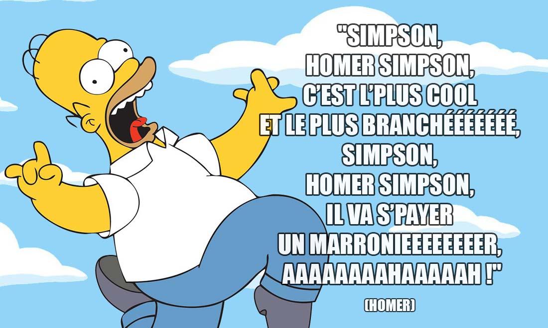 simpson homer simpson c est l plus cool et le plus brancheeeeee simpson homer simpson il va s payer un marronieeeeeer aaaaaaaahaaaaah