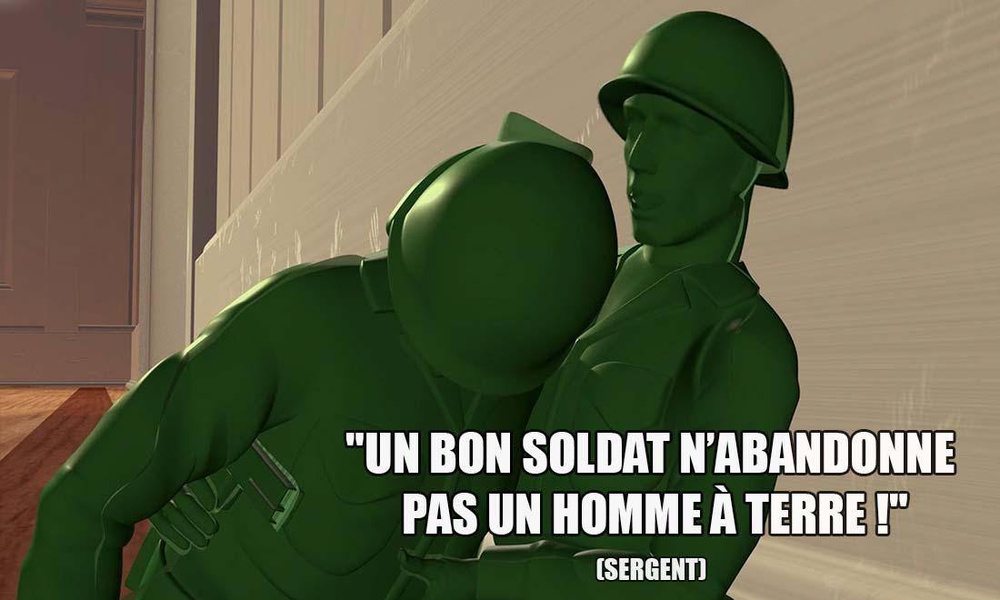 toy story sergent un bon soldat n abandonne pas un homme a terre