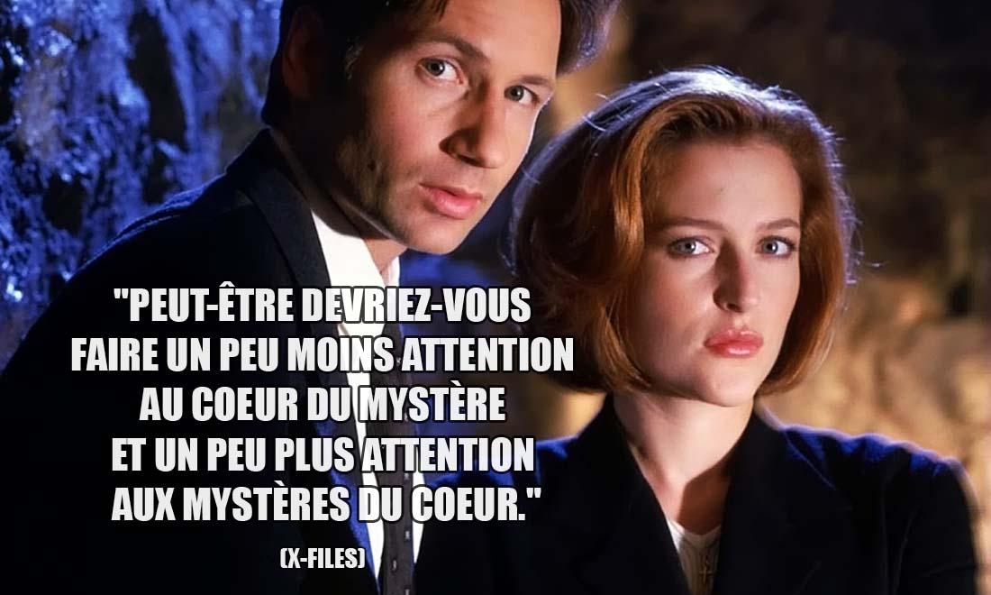 X-Files: Peut-être devriez-vous faire un peu moins attention au coeur du mystère et un peu plus attention aux mystères du coeur.