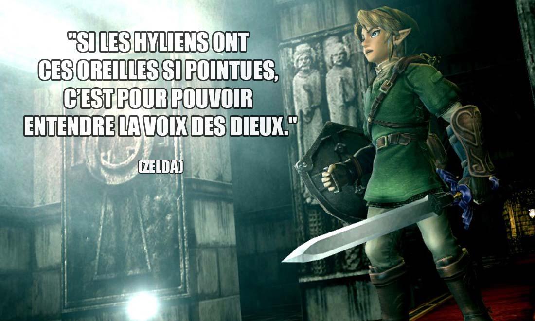 Zelda Si les Hyliens ont ces oreilles si pointues c est pour pouvoir entendre la voix des Dieux